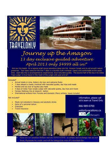 Journey up the Journey up the Amazon the Amazon