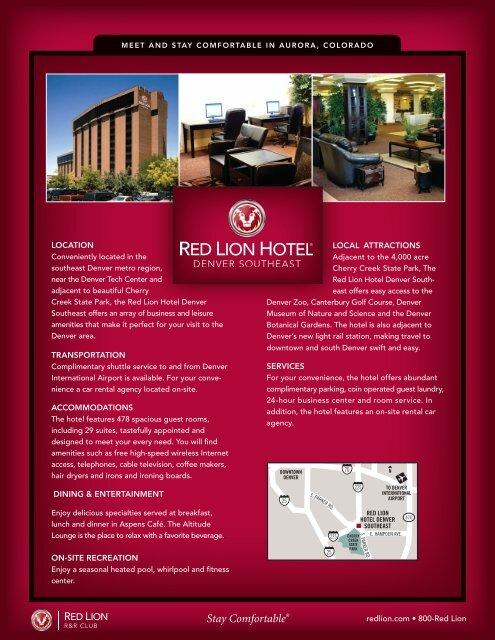 Red Lion Hotel Fact Sheet Rocky Vista University