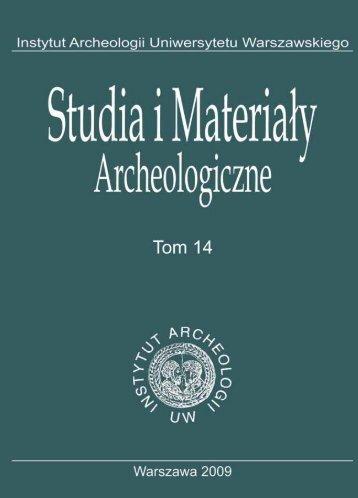 T. 14, 2009 - Instytut Archeologii Uniwersytetu Warszawskiego