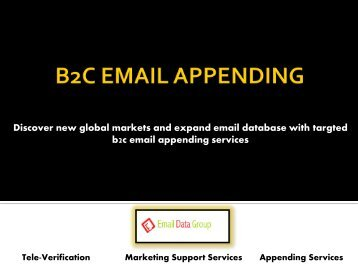 Shrink your marketing costs with B2C Email Appending Services