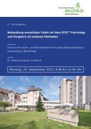 Programm und Anmeldung - Ovesco Endoscopy AG