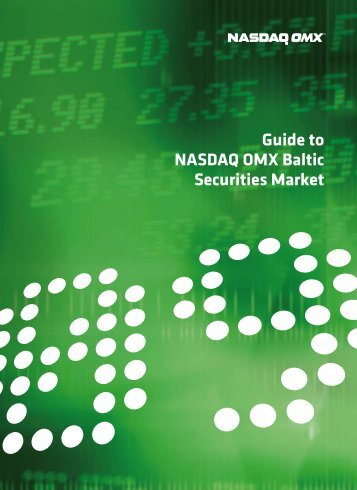 Guide to NASDAQ OMX Baltic Securities Market 2009