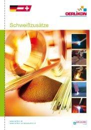 allgemeine hinweise - Schweisstechnik Oerlikon Wirth GmbH & Co ...