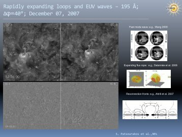 Rapidly expanding loops and EUV waves – 195 Å; Δφ ... - AFFECTS