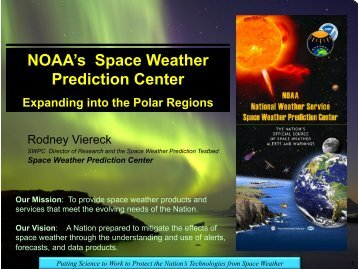 NOAA's Space Weather Prediction Center - AFFECTS