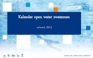 Open water kalender 2013 - Knzb