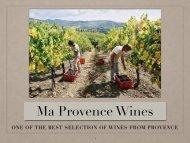 Ma Provence Wines Catalog