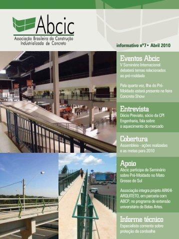 Eventos Abcic Entrevista Cobertura Apoio Informe técnico