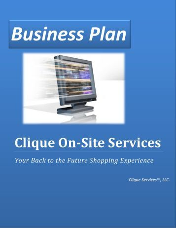 Clique On-Site Services - Bplanning.com