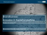 Kapitalfremskaffelse - Innovation X