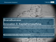 Kapitalfremskaffelse - Innovation X