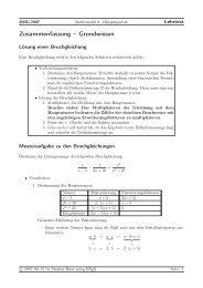 Zusammenfassung 2. Halbjahr - Treminer.de