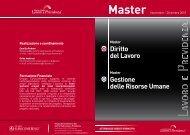 Master - Centro Studi Lavoro e Previdenza