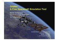 Orbiter: A Free Spacecraft Simulation Tool - ESA