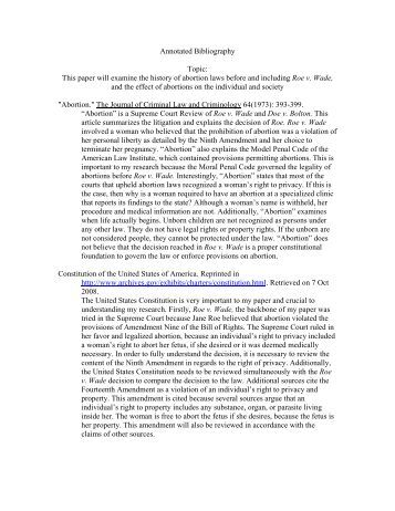 Annotated Bibliographies APA Examples   The Writing Center Pen   Pad