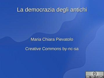 La democrazia degli antichi - Bollettino telematico di filosofia politica