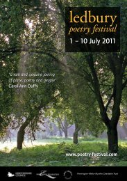 1 – 10 July 2011 - The Poetry Society