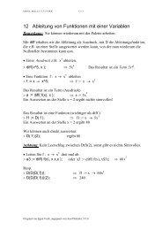 12 Ableitung von Funktionen mit einer Variablen - stuber.info