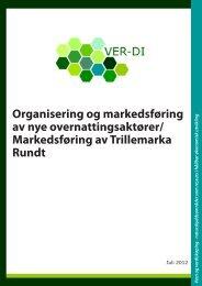 Organisering og markedsføring av nye overnattingsaktører - ver-di.eu