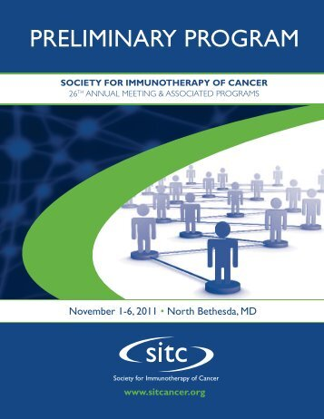 PRELIMINARY PROGRAM - Society for Immunotherapy of Cancer