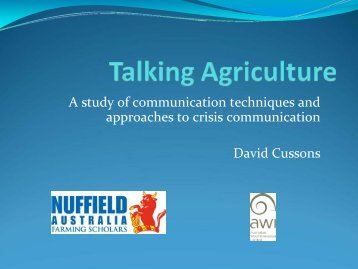 Download presentation (1.8 MB) - Nuffield Australia Farming Scholars