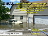 Paleoclimatic and Paleohydrologic approaches for examination of ...