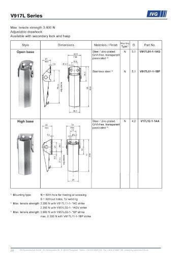 Katalog Spannverschlüsse Englisch.indd - T&S Systemtechnik / IVG ...