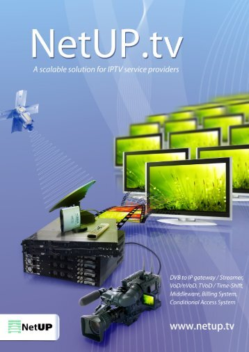 NetUP.tv IPTV Solution datasheet