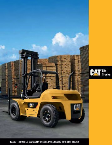 33000 lb capacity diesel pneumatic tire lift truck