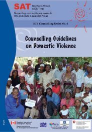Counselling guidelines on domestic violence
