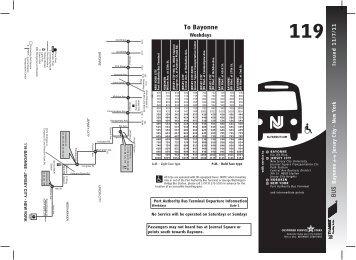 119 Bus Route - Central Avenue Special Improvement District