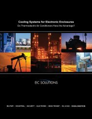 Cooling Systems for Electronic Enclosures - EIC Solutions, Inc.