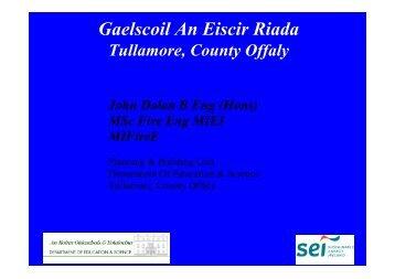 Gaelscoil An Eiscir Riada - the Sustainable Energy Authority of Ireland