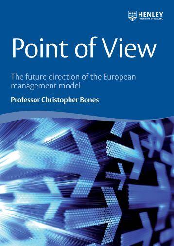 Point of View - C Bones Sept 09.indd - Peter Drucker Society of Austria