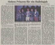 Kulturbühne Sieben Prinzen für ein Hallelujah