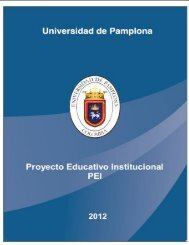 Proyecto Educativo Institucional PEI - Universidad de Pamplona