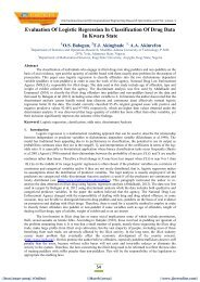 Evaluation Of Logistic Regression In Classification Of Drug ... - ijcer