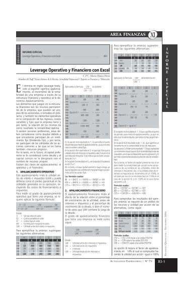 AREA .INANZAS - Revista Actualidad Empresarial