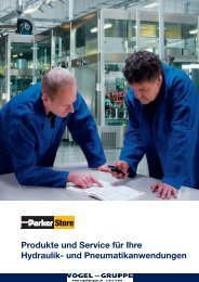 Produkte und Service für Ihre Hydraulik- und Pneumatikanwendungen