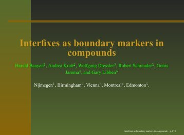 Interfixes as boundary markers in compounds