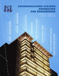 Communications Systems Consulting and Engineering