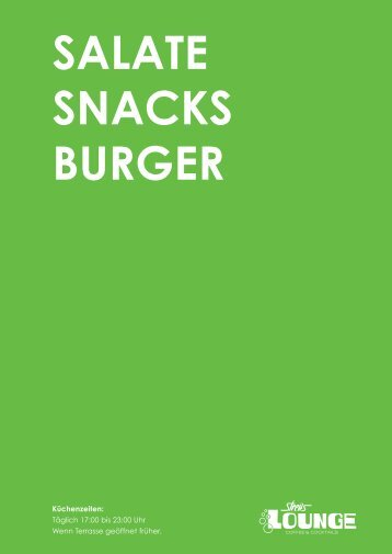 Salate SnackS Burger - Gastro.de