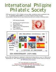 Part 1 - International Philippine Philatelic Society
