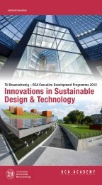 Innovations in Sustainable Design & Technology - BCA Academy
