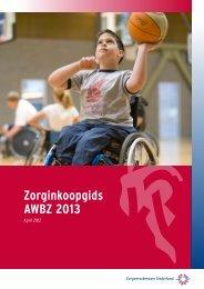Zorginkoopgids AWBZ 2013 (pdf) - Pianoo
