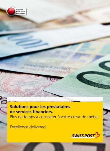 Solutions pour les prestataires de services financiers.