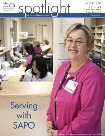 July/August 2012 Spotlight Magazine - St. Anthony's Medical Center