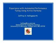 Experience with Automated Performance Tuning ... - (Rich) Vuduc