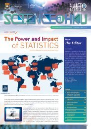 Current Issue (April 2013) - Faculty of Science, HKU