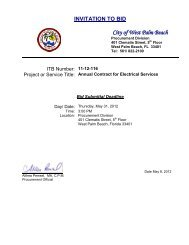 INVITATION TO BID - City of West Palm Beach